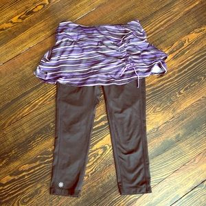 Athleta leggings with attached skirt